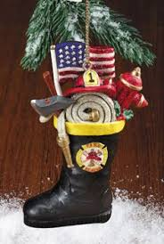 personalized fishing ornament firefighter holidays