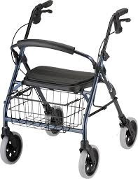 senior walkers with seat products cruiser deluxe walker blue