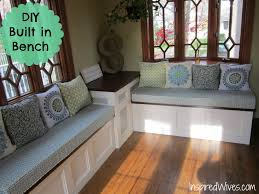 Window Storage Bench Seat Plans by Diy Built In Bench This To Cover Up The Sump Pump Rec Room
