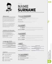 Curriculum Vitae Resume Samples by Resume Minimalist Cv Resume Template With Simple Design Compan
