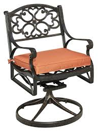 Swivel Patio Dining Chairs Home Styles Biscayne Swivel Patio Dining Chair With Cushion
