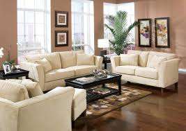 neutral brown paint colors for living room with white sofa sets