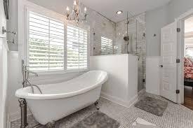 clawfoot tub bathroom ideas traditional master bathroom with clawfoot bathtub tile