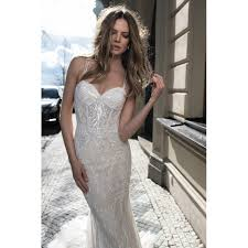 spaghetti wedding dress spaghetti straps lace and tulle sheath wedding dress