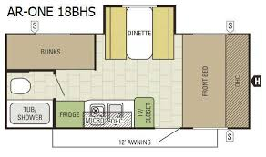 one floor plan ar1 travel trailer