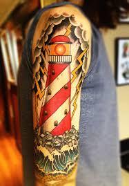 Lighthouse Tattoo Ideas 23 Half Sleeve Lighthouse Tattoos Ideas
