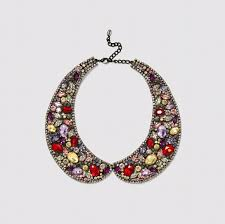 rhinestone collar necklace images Zara jewelry new multicolor rhinestone collar necklace poshmark jpg