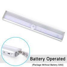 Battery Operated Under Cabinet Lighting Kitchen by Kitchen Closet Under Cabinet Basement Stick On 10 Led Motion