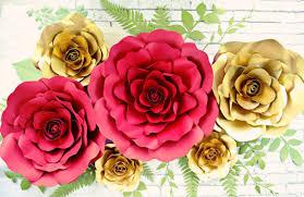 paper roses paper flower backdrop paper roses paper flower