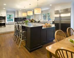 l shaped kitchen island with table dining table attached to for l