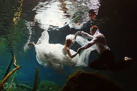 underwater wedding wedding in mexico