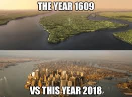 Memes New York - put me like new york in 1609 vs now