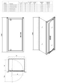 800 Pivot Shower Door by Twyford Geo6 180 Pivot Shower Enclosure Door 760mm G63600cp
