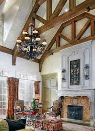home design gorgeous vaulted ceiling ideas with floral pattern