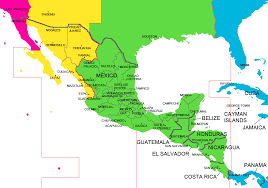 map of america with cities mexico and central america time zone map with cities with