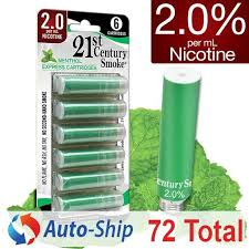 si e auto 0 2 0 e cig strength refills from 21st century smoke