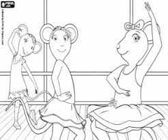 Angelina Ballerina Coloring Pages Printable Games Ballerina Printable Coloring Pages