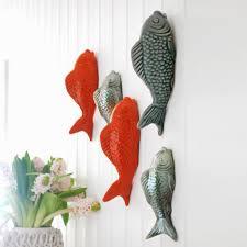 ceramic fish wall ornaments mooie huisjes wall