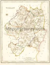 county wicklow ireland map 1837
