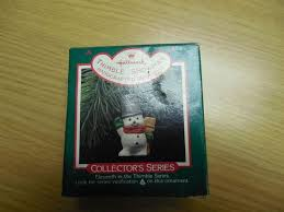 hallmark ornaments 1988 miniature thimble snowman