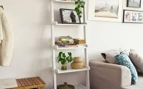 shelving ladder shelves awesome leaning shelf diy ladder display