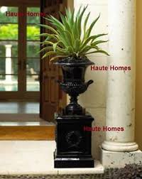 new horchow english ornate hand craft classic black urn planter
