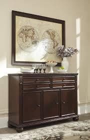 ashley d626 80 leahlyn reddish brown finish dining room buffet server