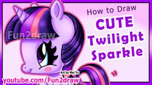 how to draw twilight sparkle my little pony fun2draw youtube
