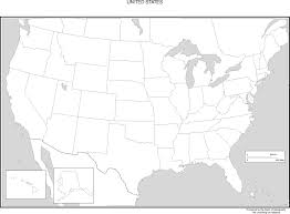 United States Map With Interstates by United States Blank Map