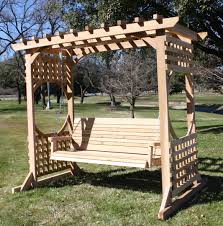 colonial style arbor swing