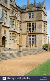 exterior of montacute house in somerset england uk stock photo