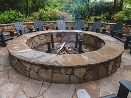 backyard stone fire pit fine design large outdoor fire pit easy 1000 images about stone