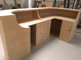 Building A Reception Desk How To Build A Curved Reception Desk Reception Desks Desks And