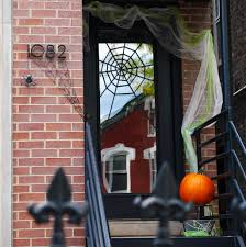 halloween decorations clearance diy halloween front door decoration subtle spiderwebs merriment