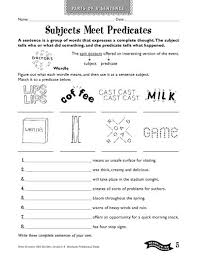 best solutions of second grade subject and predicate worksheets