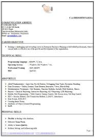 Sap Abap Sample Resume by Best 25 Career Objective In Cv Ideas On Pinterest Resume Career