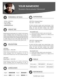 resume template word 2007 modern resume template