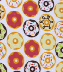donut wrapping paper blizzard fleece fabric doughnuts joann