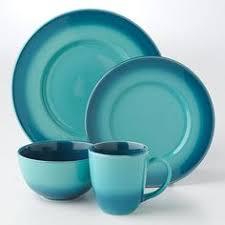 baum bros 16pc dinnerware set tangiers turquoise h o m e