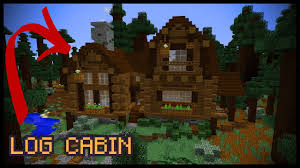how to make a minecraft log cabin youtube