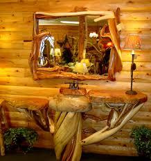 Log Vanity Pedestal Vanity The Log Builders