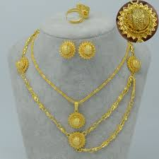 girl necklace size images Anniyo ethiopian set jewelry for women girl gold color hair chain jpg