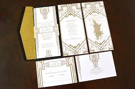 great gatsby wedding invitations great gatsby inspired wedding invites in a card