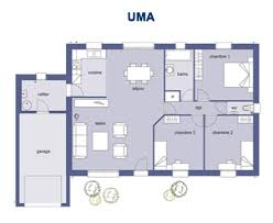 plan maison 3 chambres plain pied garage plan maison plain pied 100m2 de 3 chambres 6 garage menuiserie