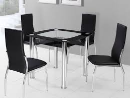 Leather Chairs For Dining Room by Kitchen Chairs Elegant Square Tempered Glass Dining Table