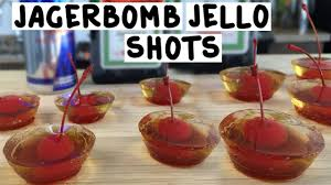 jager bomb jello shots tipsy bartender youtube