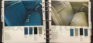 1968 pontiac color u0026 upholstery dealer album original