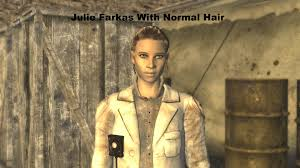 julie farkas with normal looking hair at fallout new vegas mods