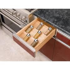 cabinet kitchen drawer spice organizers creative spice storage rev a shelf in h x w d large wood spice kitchen drawer storage insert sdi the h
