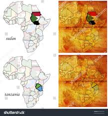 Map Of Tanzania Africa by Sudantanzania On Two Kinds Africa Map Stock Illustration 40497520